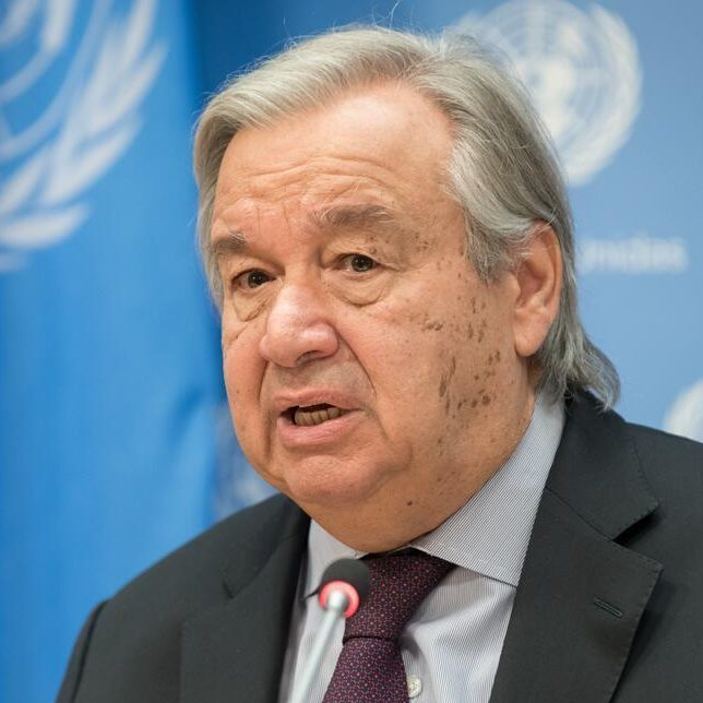 Secretary-General António Guterres briefs reporters on his participation this weekend in the G20 Summit.